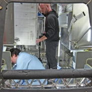 Josh Korwin shooting the SpaceX Dragon Capsule