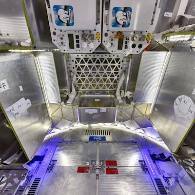 SpaceX Dragon Spacecraft Interior (with refrigeration unit)